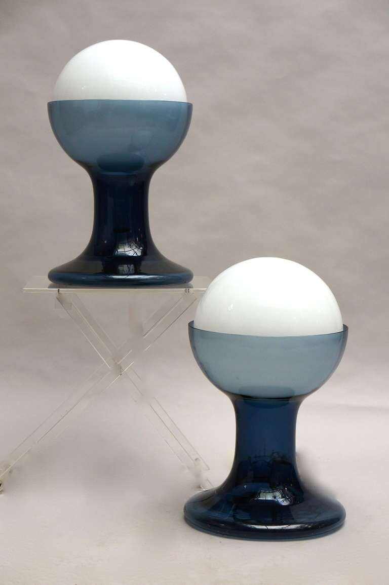 One Murano glass table lamp by A.V Mazzega.