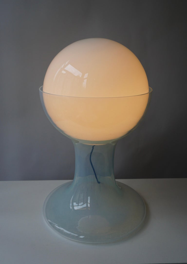 Mid-Century Modern One Murano Glass Table Lamp by A.V. Mazzega For Sale