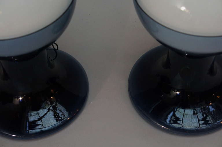 20th Century One Murano Glass Table Lamp by A.V. Mazzega For Sale