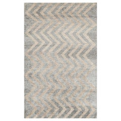 One-of-a-Kind Contemporary Handwoven Wool Area Rug  4'11 x 7'10
