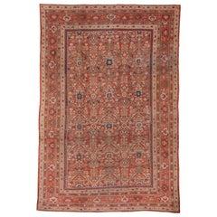 Tribal Antique Mahal Carpet, Soft Palette