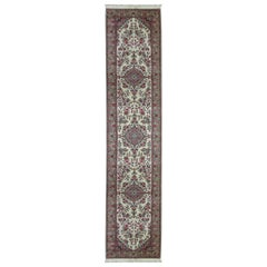 One-of-a-Kind Antique Traditional Handwoven Wool Runner Area Rug