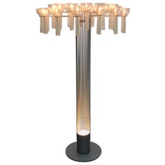 One of a Kind Architectural Candle Stand and Floor Lamp, Germany, 1970s