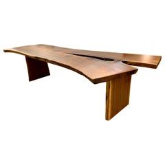 One of a Kind Architectural Live Edge Dining Table
