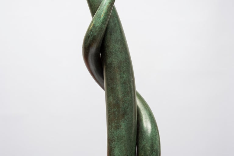European One of a Kind Bronze Sculpture by Abel Reis For Sale