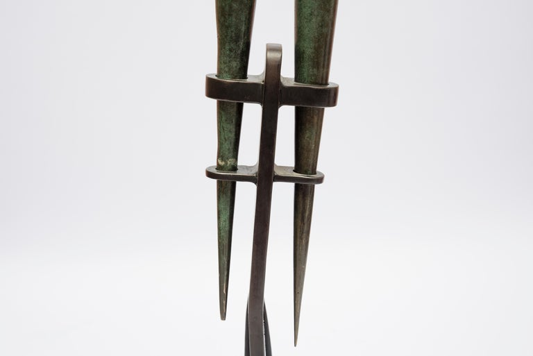 One of a Kind Bronze Sculpture by Abel Reis In Fair Condition For Sale In Bois-Colombes, FR