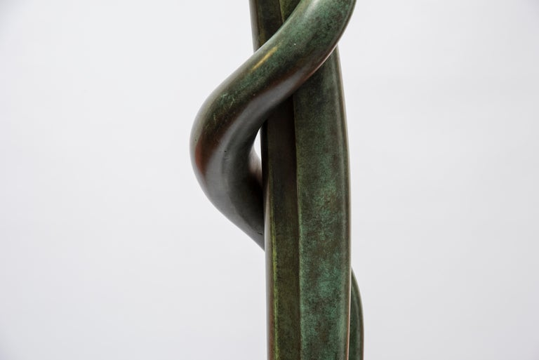 One of a Kind Bronze Sculpture by Abel Reis For Sale 3
