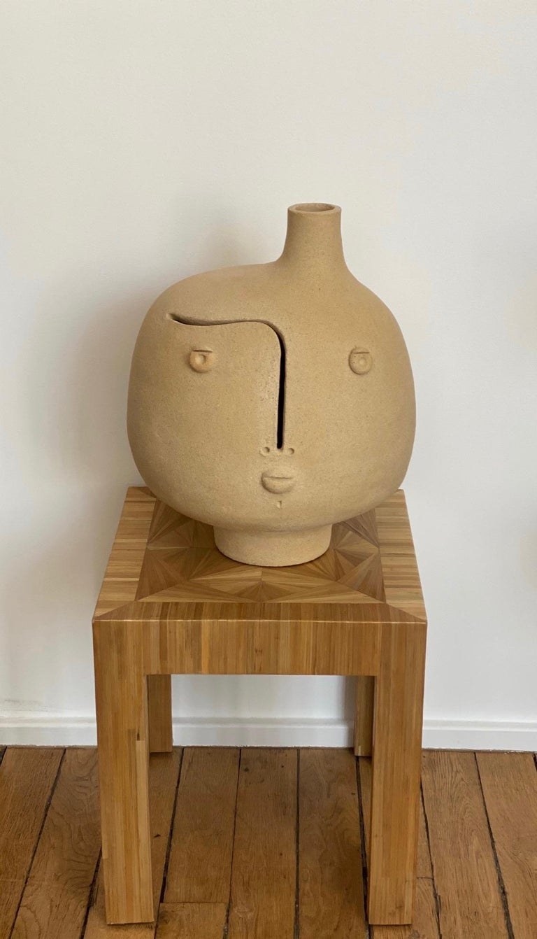 French One of a Kind Ceramic Lamp Base Signed by Dalo For Sale