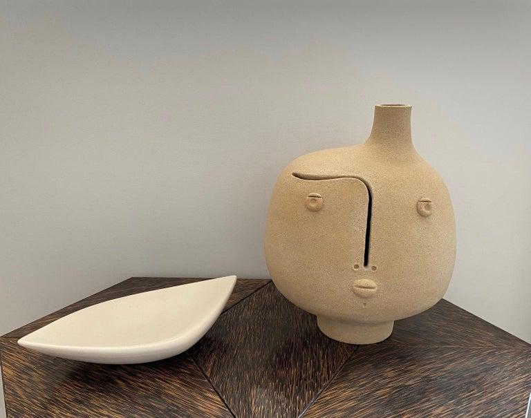 One of a Kind Ceramic Lamp Base Signed by Dalo In Excellent Condition For Sale In Paris, FR
