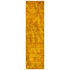 One-of-a-Kind Colorful Wool Hand Knotted Runner Rug, Marigold