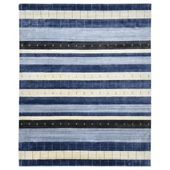 One-of-a-Kind Contemporary Hand Loomed Area Rug, Parchment