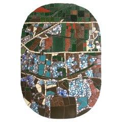 One-of-a-Kind Contemporary Mosaic ML2909 by Brazilian Artist Mariana Lloyd, 2020