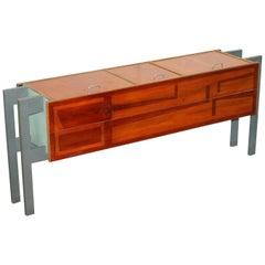 One of a Kind Custom Made Art Modern Sideboard Doors Opening Upwards Stylish