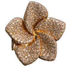 One of a Kind Diamond Magnolia Ring Custom