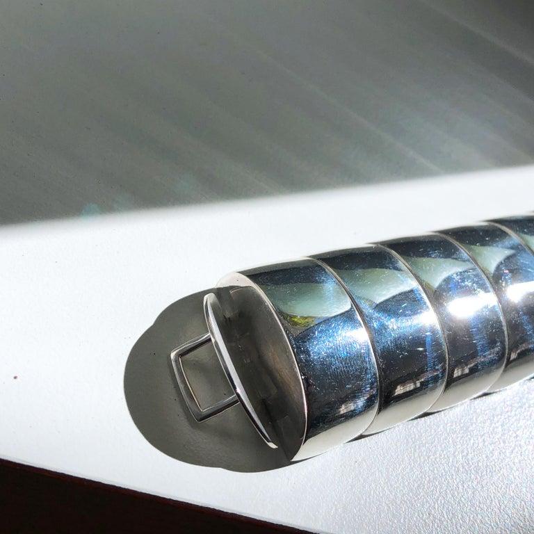 One of a Kind Extraordinary Original 1980s Sterling Silver Pomellato Bracelet For Sale 5