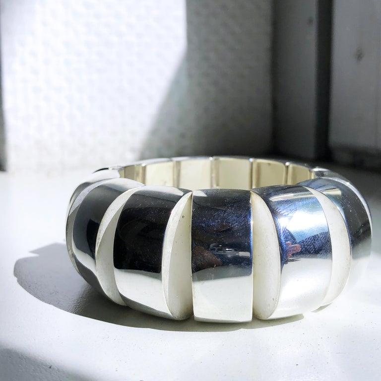 One of a Kind Extraordinary Original 1980s Sterling Silver Pomellato Bracelet For Sale 6