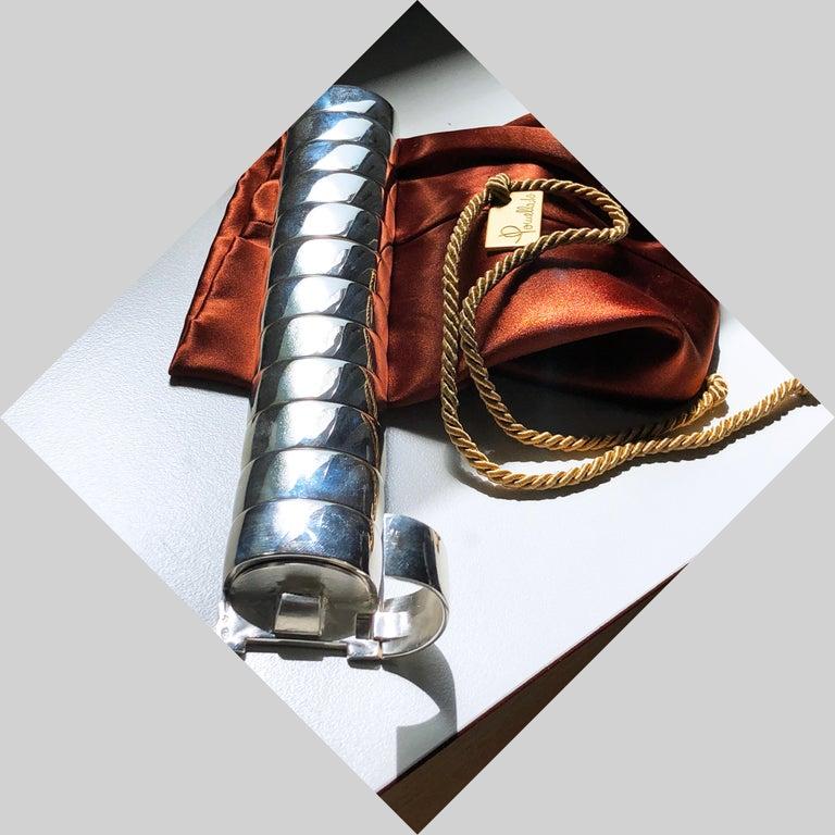 One of a Kind Extraordinary Original 1980s Sterling Silver Pomellato Bracelet For Sale 13