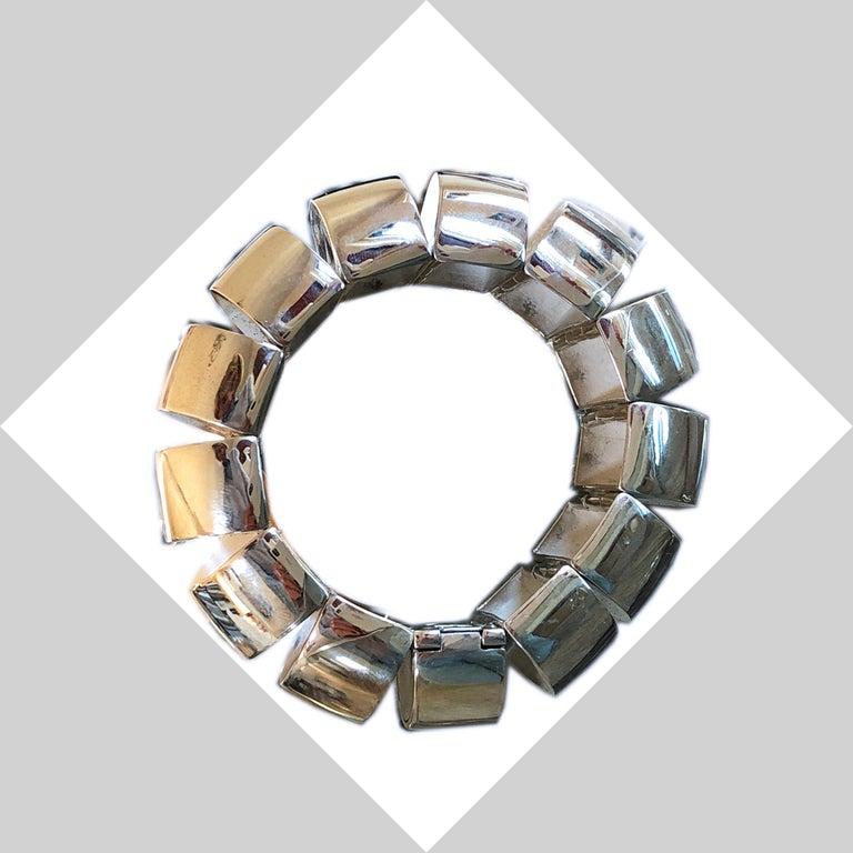 One of a Kind Extraordinary Original 1980s Sterling Silver Pomellato Bracelet For Sale 14