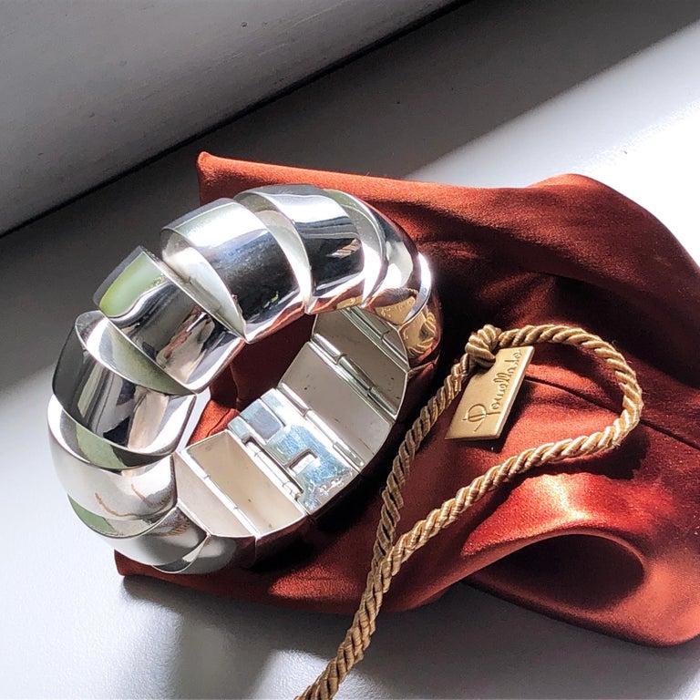 One of a Kind Extraordinary Original 1980s Sterling Silver Pomellato Bracelet For Sale 2
