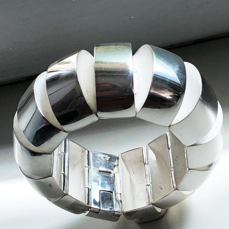 One of a Kind Extraordinary Original 1980s Sterling Silver Pomellato Bracelet For Sale 1