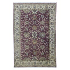 Traditional Cornwall Collection Red Ivory Wool Rug