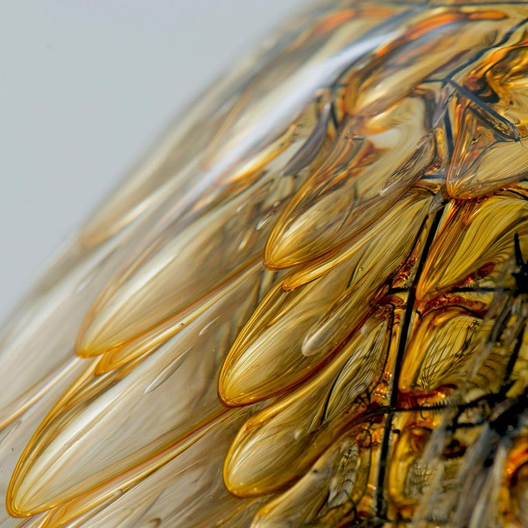 Contemporary One of a Kind Honeycomb Object Glass Sculpture by German Artist J. F. Zimmermann For Sale