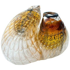 One of a Kind Honeycomb Object Glass Sculpture by German Artist J. F. Zimmermann