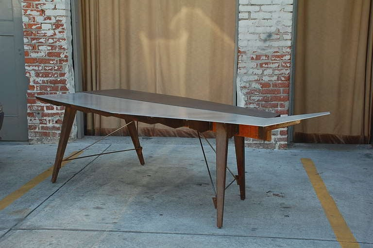 One of a kind industrial studio work table / desk.