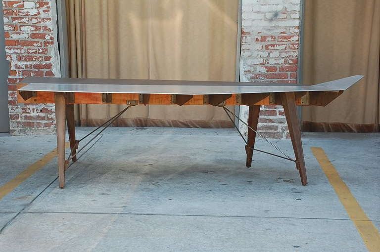 American One of a Kind Industrial Studio Work Table / Desk For Sale