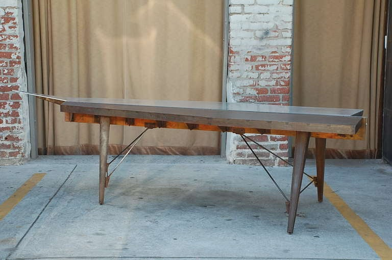 20th Century One of a Kind Industrial Studio Work Table / Desk For Sale