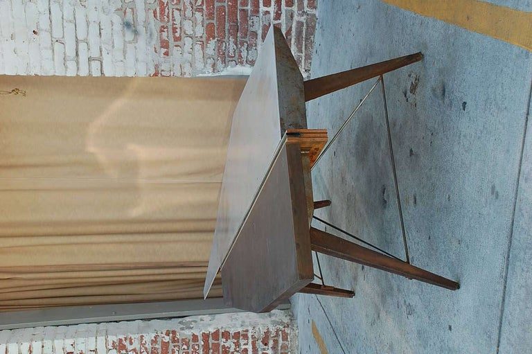 Steel One of a Kind Industrial Studio Work Table / Desk For Sale