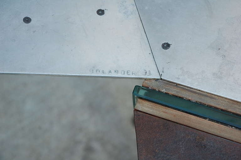 One of a Kind Industrial Studio Work Table / Desk For Sale 2