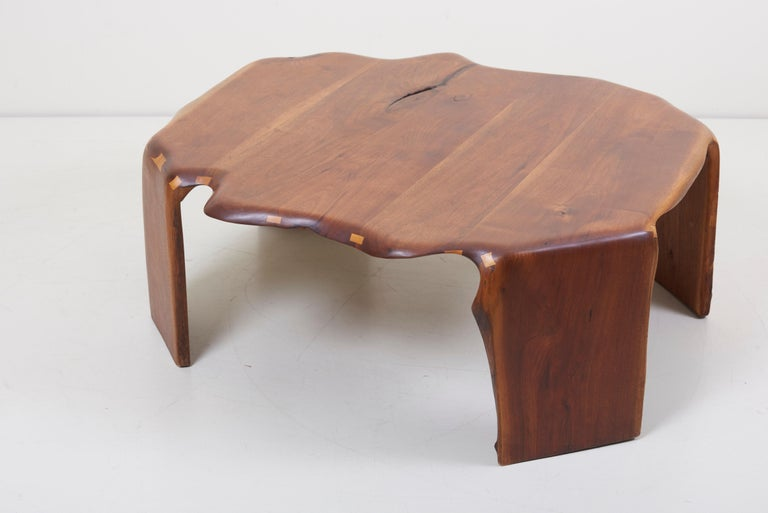 One of a Kind James Monroe Camp Studio Coffee Table in Walnut, USA, 1975 5