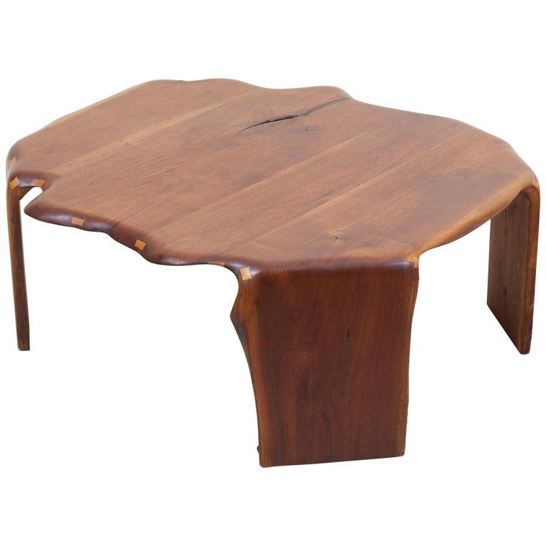 One of a Kind James Monroe Camp Studio Coffee Table in Walnut, USA, 1975