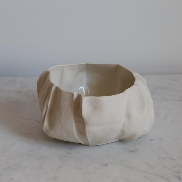 Modern One of a Kind Kawa Bowl by Luft Tanaka, Ceramic, Porcelain, in Stock For Sale