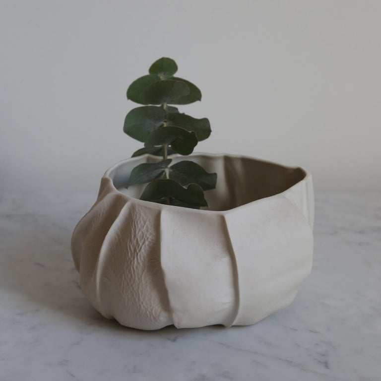 American One of a Kind Kawa Bowl by Luft Tanaka, Ceramic, Porcelain, in Stock For Sale