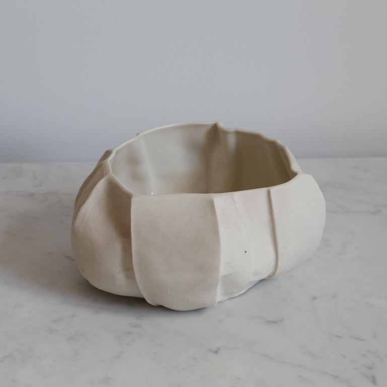 Cast One of a Kind Kawa Bowl by Luft Tanaka, Ceramic, Porcelain, in Stock For Sale