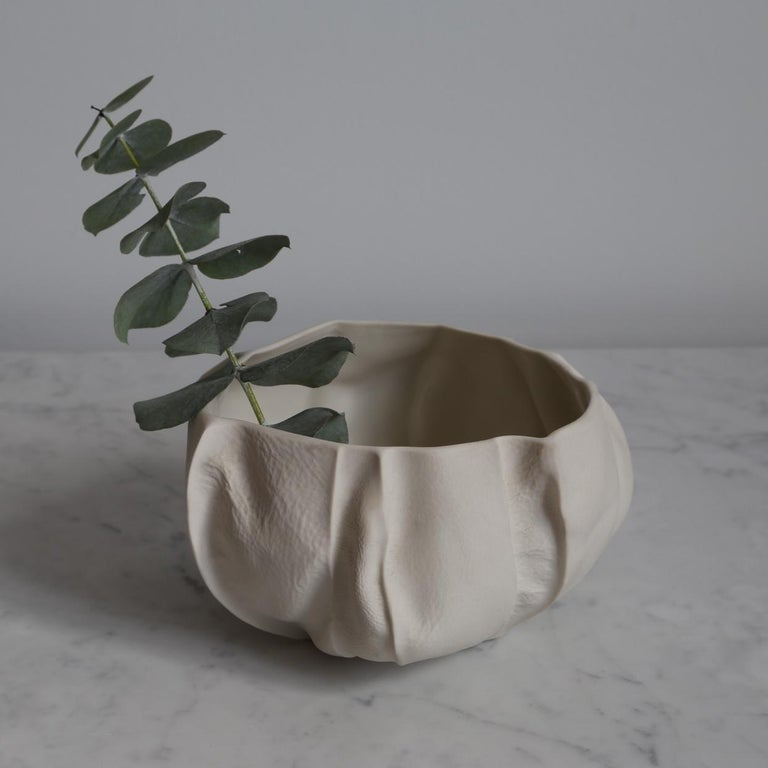 One of a Kind Kawa Bowl by Luft Tanaka, Ceramic, Porcelain, in Stock In New Condition For Sale In Brooklyn, NY