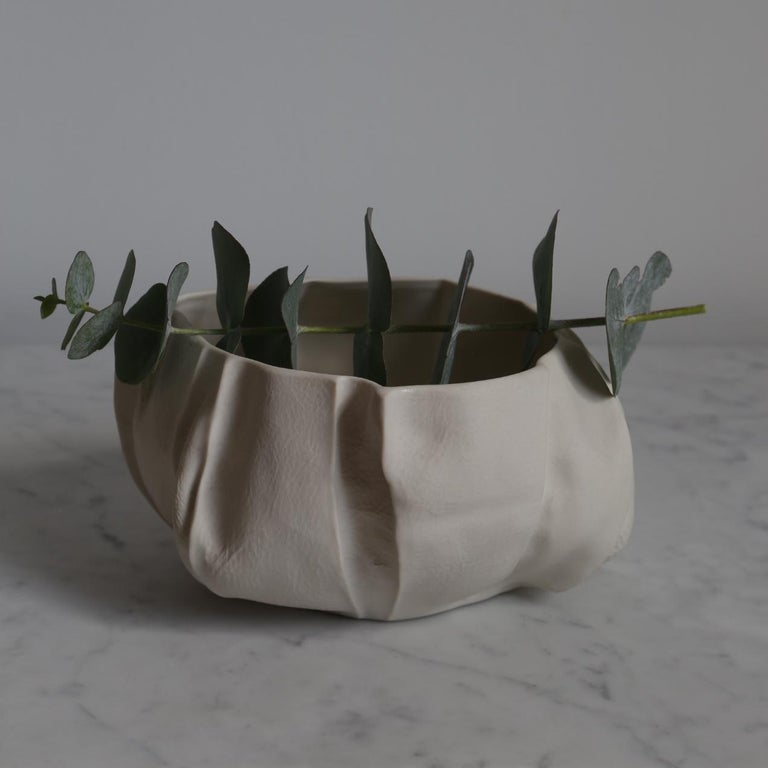 Contemporary One of a Kind Kawa Bowl by Luft Tanaka, Ceramic, Porcelain, in Stock For Sale