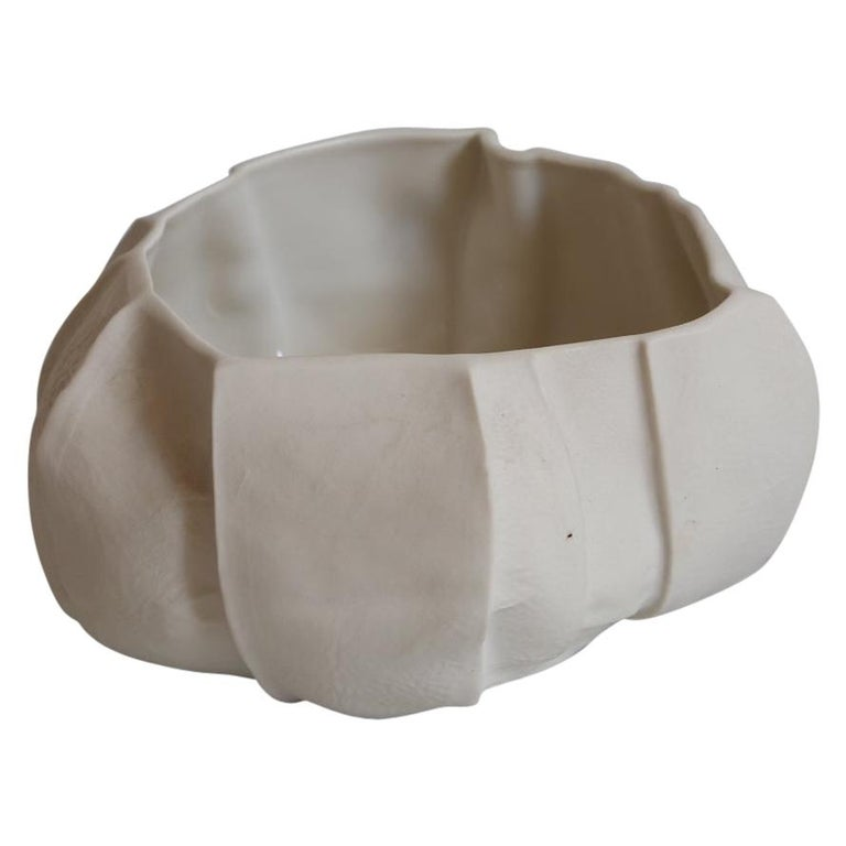 One of a Kind Kawa Bowl by Luft Tanaka, Ceramic, Porcelain, in Stock For Sale