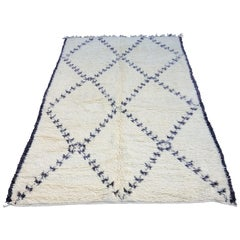One of a Kind Moroccan Beni Ourain Rug, Purple Pattern