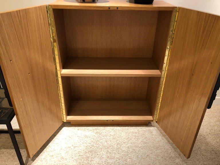 One of a Kind Oak Cabinet with Ceramic Handles Signed by Dalo For Sale 5