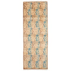 One-of-a-Kind Oriental Serapi Wool Hand Knotted Runner Rug, Mocha
