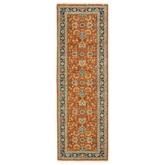 One-of-a-Kind Oriental Serapi Wool Hand Knotted Runner Rug, Tuscan