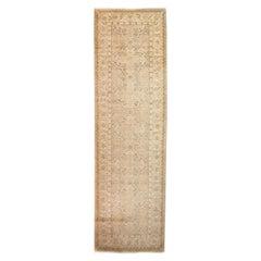 One of a Kind Oriental Silky Oushak Wool Handmade Runner, Multi