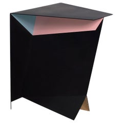 One-of-a-Kind Perseus Stainless Steel Soft-Touch Finish Side Table
