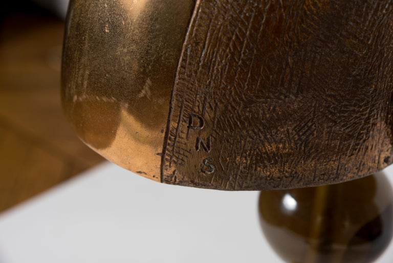 Bronze One of a Kind Sculpture Lamp by Gianluca Fontana For Sale