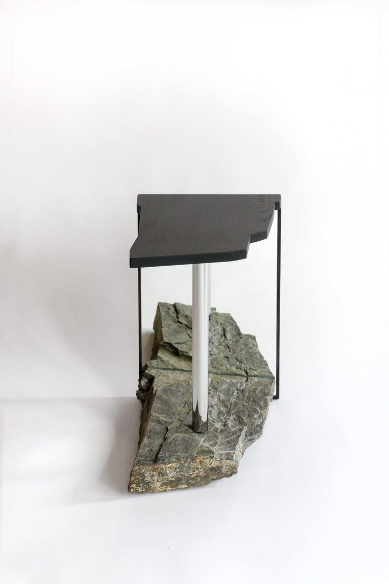 One-of-a-kind Side Table by Simon Johns 'Missisquoi 11' For Sale 3