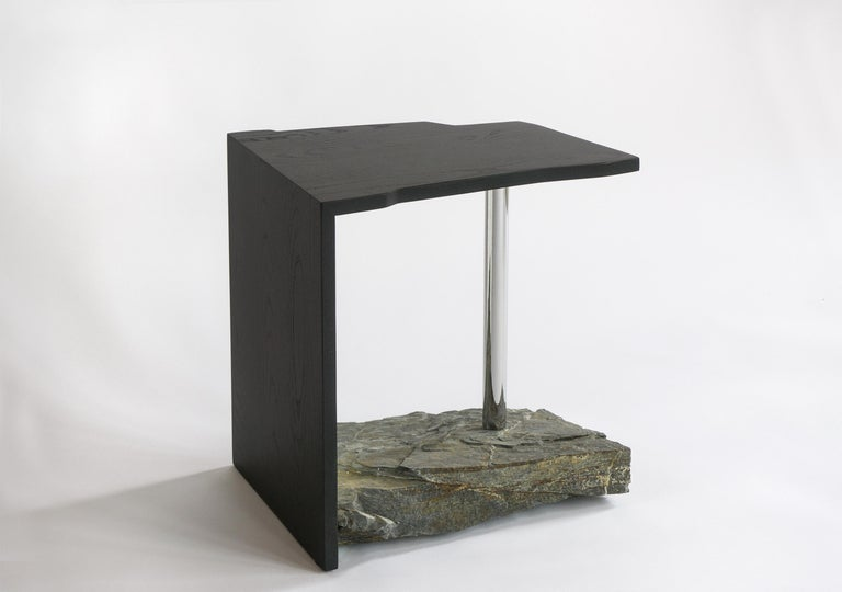 Canadian One-of-a-kind Side Table by Simon Johns 'Missisquoi 11' For Sale