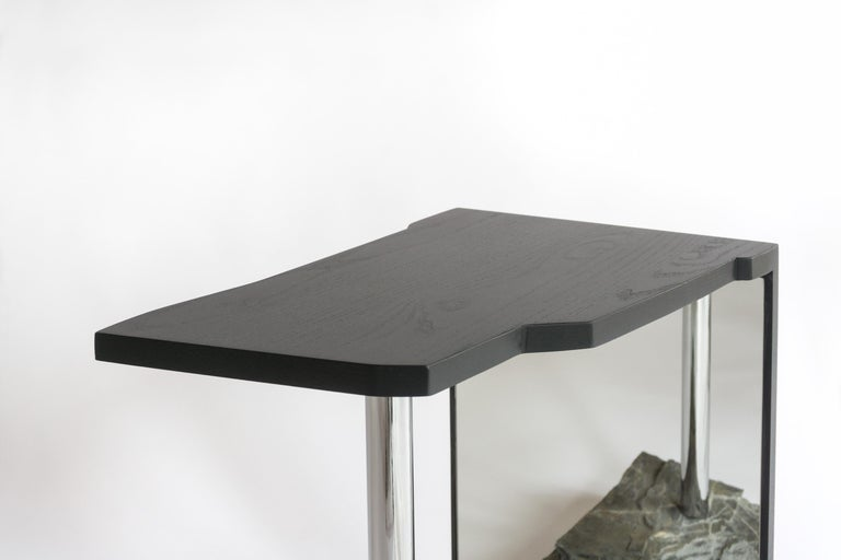 Stone One-of-a-kind Side Table by Simon Johns 'Missisquoi 11' For Sale